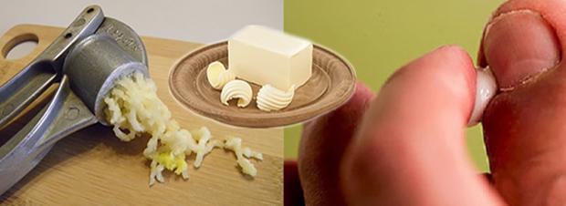 Чеснок со сливочным маслом от грибка
