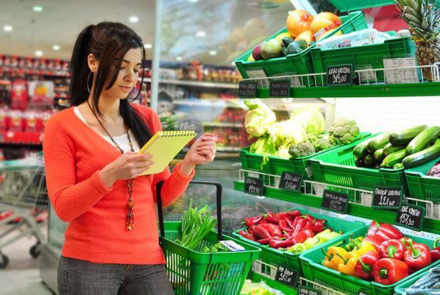 Покупка свежих овощей, зелени и фруктов