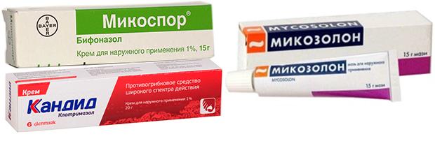 Лекарственные мази от грибка