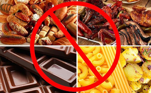 Исключить из рациона продукты
