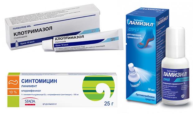 Аптечные средства от грибка