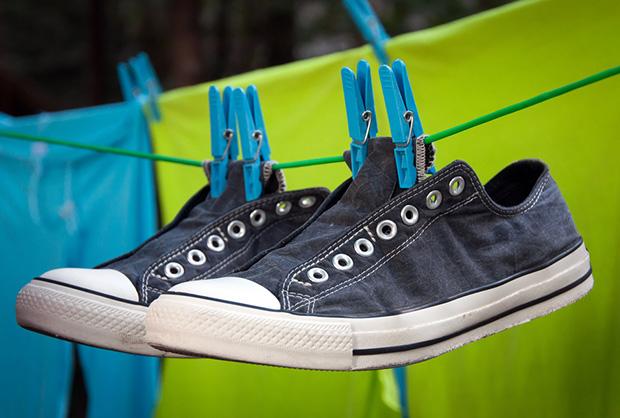 Обувь сушится